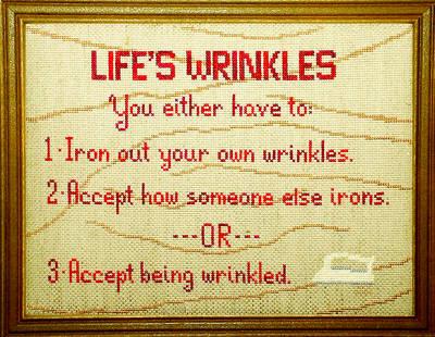 cross stitch pattern Life's Wrinkles
