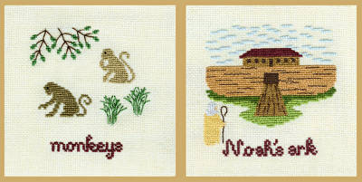 cross stitch pattern Two by Two They Came - Group 8
