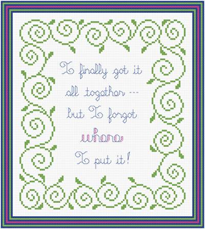 cross stitch pattern Got It All Together