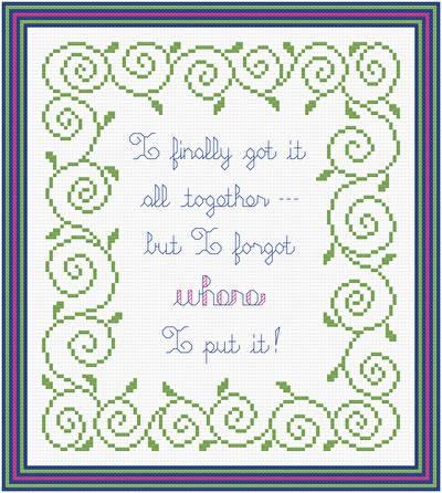 cross stitch pattern Got It All Together