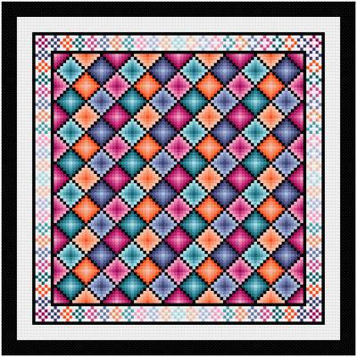 cross stitch pattern Diamonds Are Forever