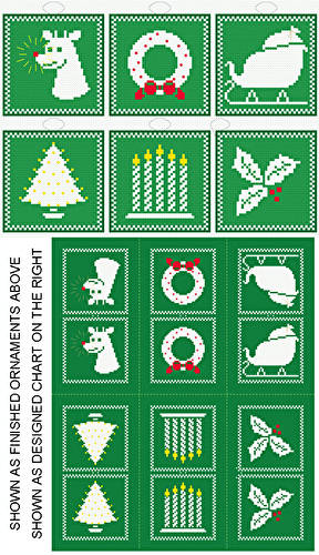 cross stitch pattern Rudolph Plus - 6 Ornament Set