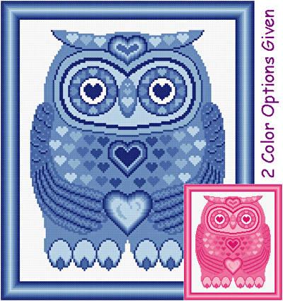 cross stitch pattern I Love You
