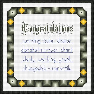 cross stitch pattern Congratulations