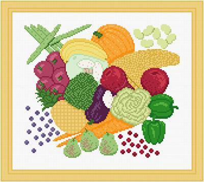 Cornucopia Cross Stitch Pattern Fruit Classy Printable Cross Stitch Patterns