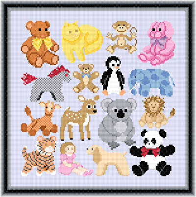 cross stitch pattern Cuddly Friend Images