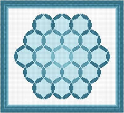 cross stitch pattern Deepening Pools