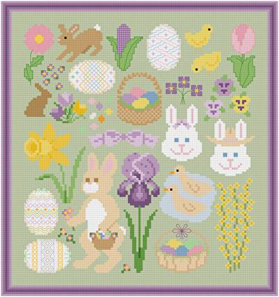 cross stitch pattern Spring - Easter Images