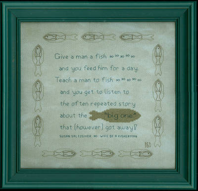 cross stitch pattern Teach Fishing