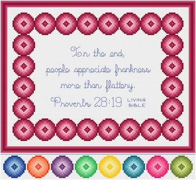 cross stitch pattern Frankness - Flattery