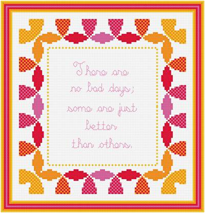 cross stitch pattern All Good Days