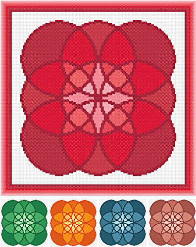 cross stitch pattern Embellishment