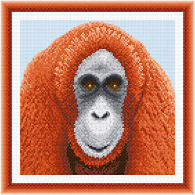 cross stitch pattern Orangutan