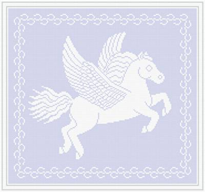 cross stitch pattern Lace Pegasus