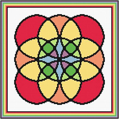 cross stitch pattern Different Kind of Rainbow