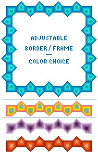 cross stitch pattern Sawtooth Adjustable Border-Frame