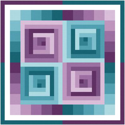 cross stitch pattern Rotating Squares