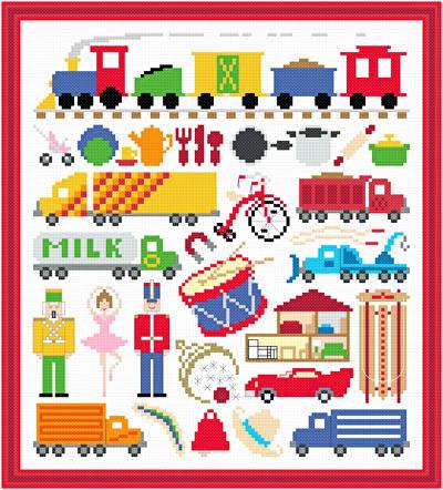 cross stitch pattern Toy Image
