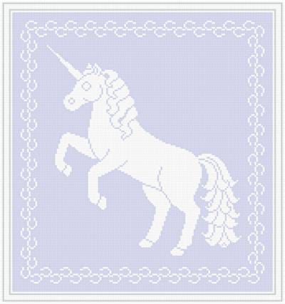 cross stitch pattern Lace Unicorn