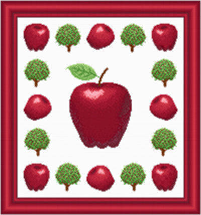 cross stitch pattern Apples