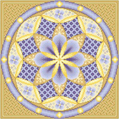 cross stitch pattern Blueberry Cheese Danish - Cafe au Lait