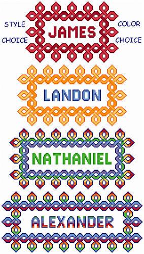cross stitch pattern Celtic Adjustable Nameplates - Bold