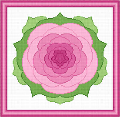 cross stitch pattern Camillia