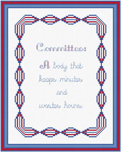 cross stitch pattern Committee