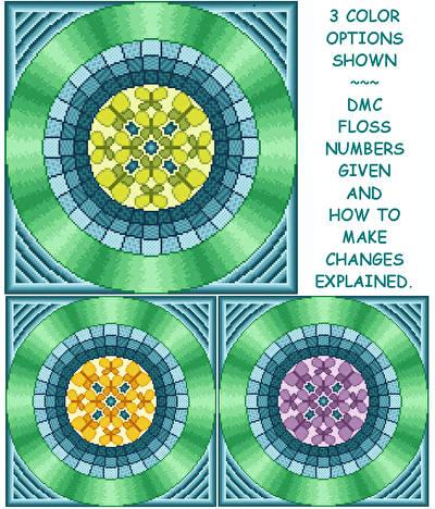 cross stitch pattern Caterpillar - Changeable Center