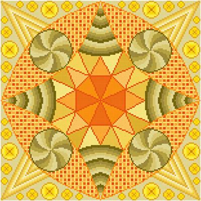 cross stitch pattern Ham and Swiss with Dijon
