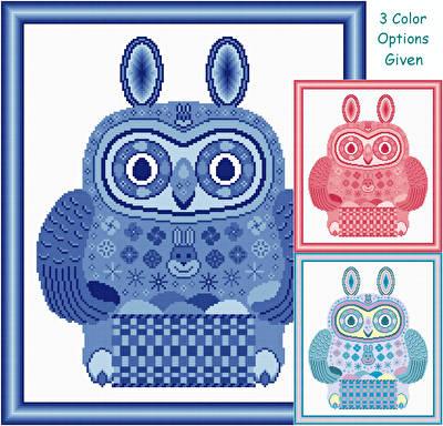 cross stitch pattern Easter Owl