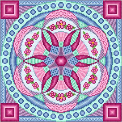 cross stitch pattern Ferris Wheel