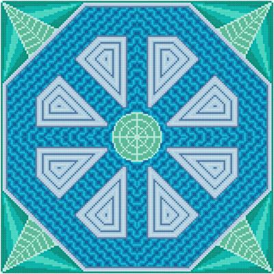 cross stitch pattern Flume - Blue Inserts