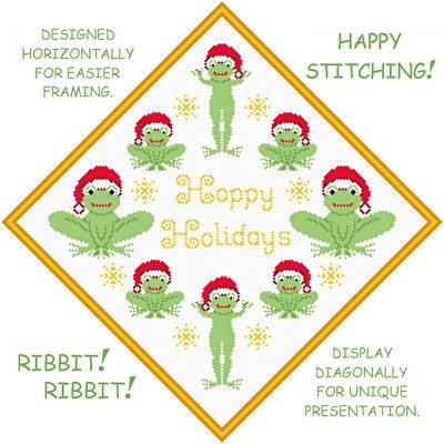 cross stitch pattern Hoppy Holidays