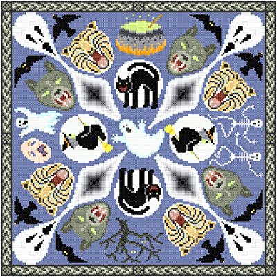 cross stitch pattern House of Horrors