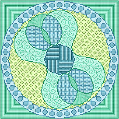 cross stitch pattern Loop-D-Loop