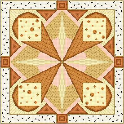 cross stitch pattern Reuben - Brown Accents