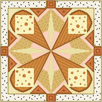 cross stitch pattern Reuben - Brown Accents