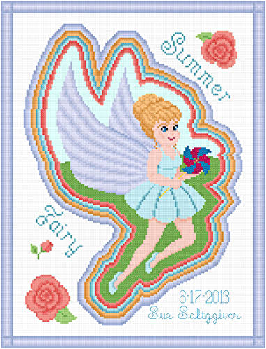 cross stitch pattern Summer Fairy