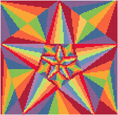 cross stitch pattern Snazzy