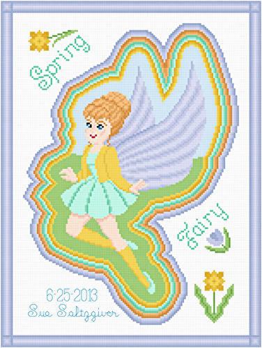cross stitch pattern Spring Fairy