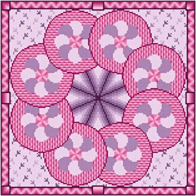 cross stitch pattern Tilt-A-Whirl