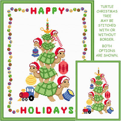 cross stitch pattern Turtle Christmas Tree