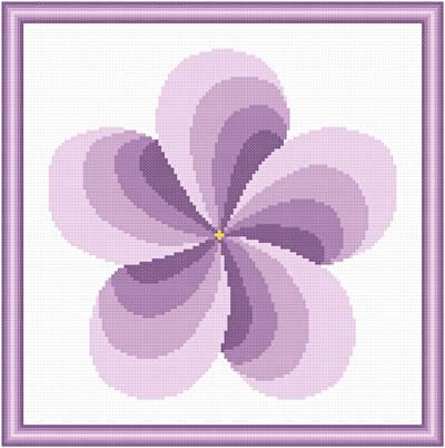 cross stitch pattern Twirl Around - Lavender