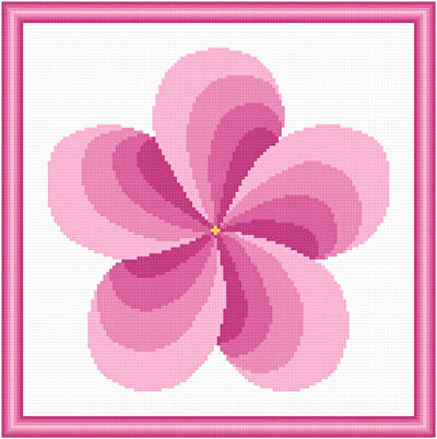 cross stitch pattern Twirl Around - Plum