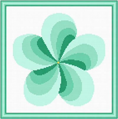 cross stitch pattern Twirl Around - Seagreen