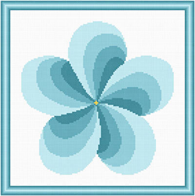 cross stitch pattern Twirl Around - Turquoise