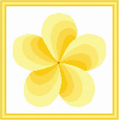 cross stitch pattern Twirl Around - Yellow