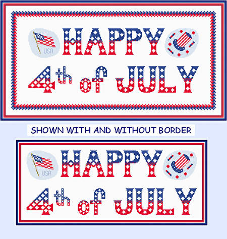 cross stitch pattern 4th of July