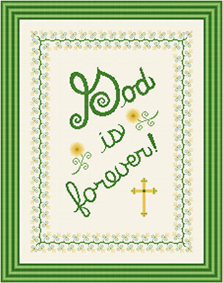 cross stitch pattern God Is Forever